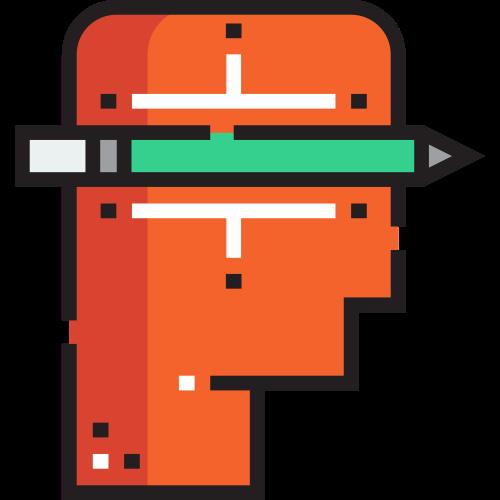橙色设计师头像矢量图标素材矢量logo