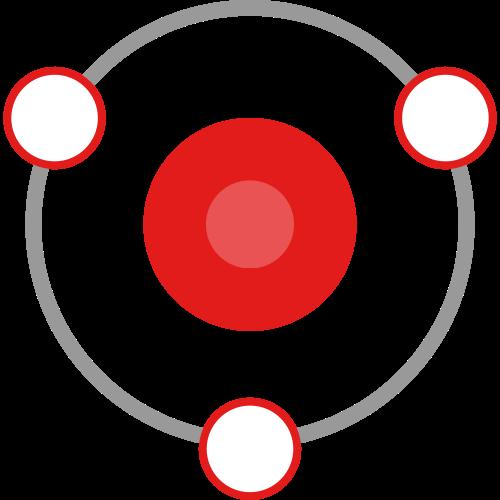 抽象环形卫星矢量logo图标矢量logo