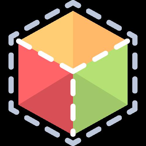 彩色3d立方体矢量图标素材矢量logo