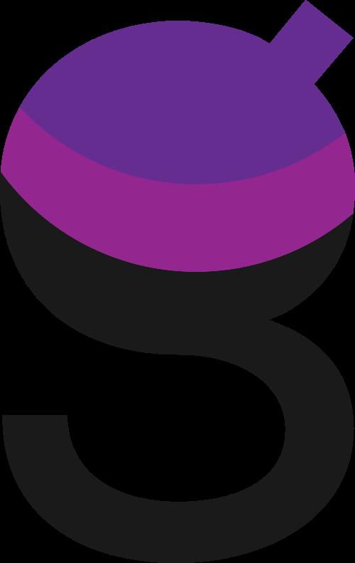 紫色字母G矢量图标矢量logo