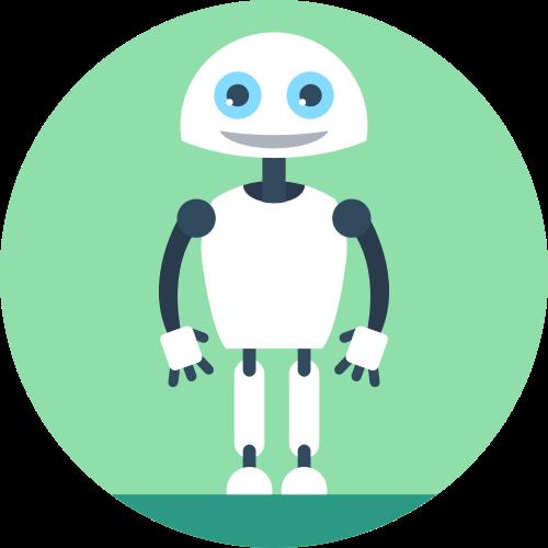 绿色机器人矢量图标logo矢量logo