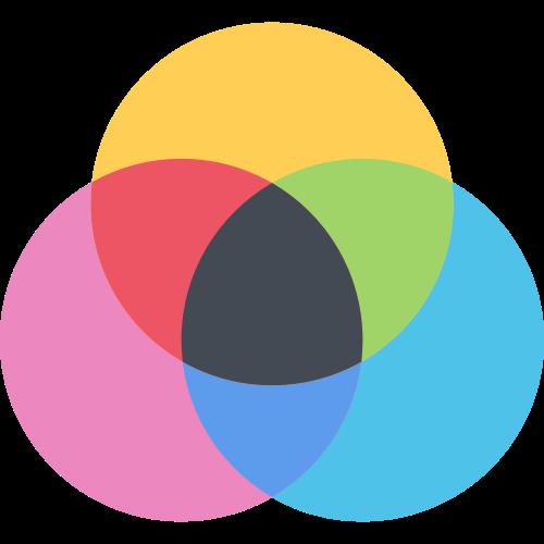 彩色圆形阴影叠加效果矢量logo图标矢量logo