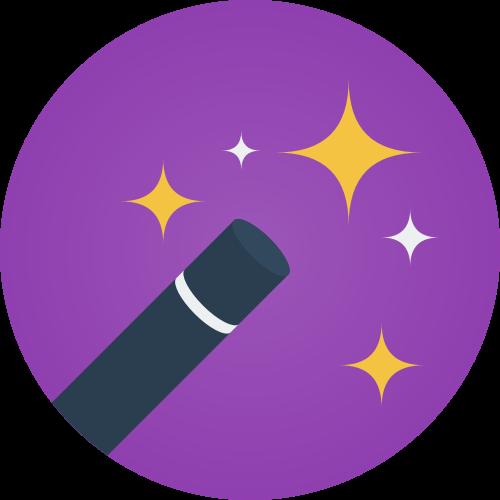 紫色圆形魔法星空矢量logo素材矢量logo