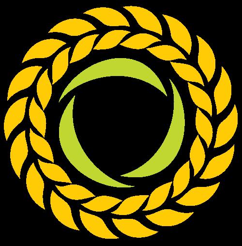 圆形麦穗庄稼矢量logo素材