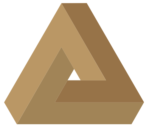 咖啡色立体三角形抽象图标素材图片矢量logo