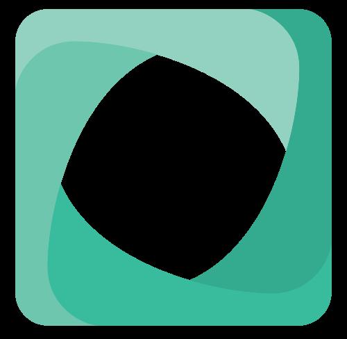 绿色方形螺旋抽象矢量图标