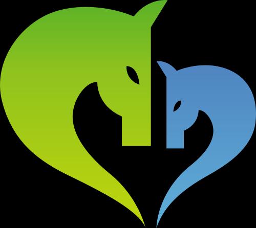心形马头logo矢量元素矢量logo