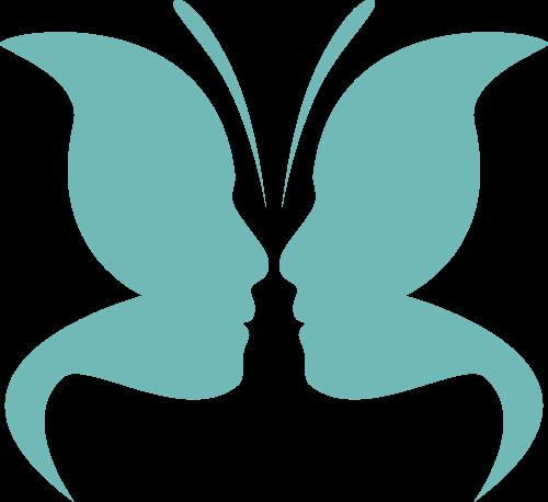人脸蝴蝶矢量logo图标矢量logo