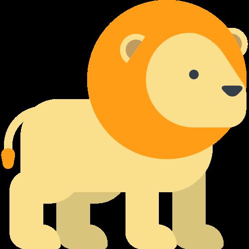 黄色卡通狮子矢量logo设计图标矢量logo