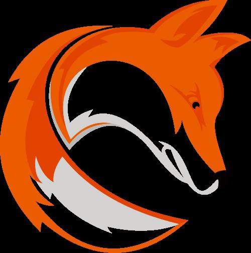 黄色卡通狐狸矢量logo素材矢量logo