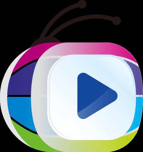 卡通甲壳虫视频播放器logo矢量图标