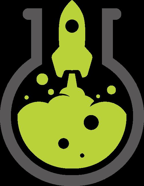 火箭化学实验矢量logo素材矢量logo