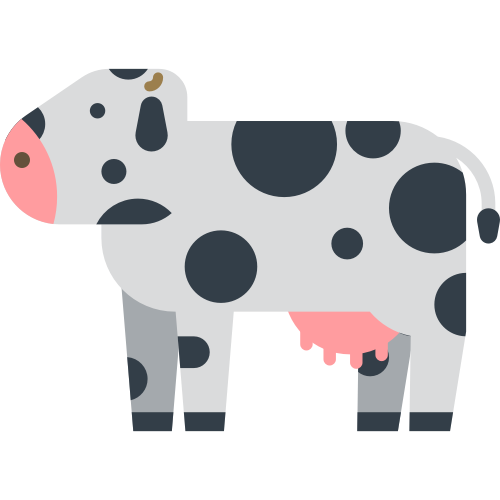 可爱奶牛矢量logo素材图标