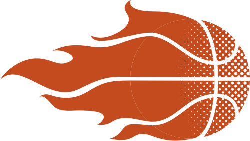 橙色火焰篮球矢量logo素材