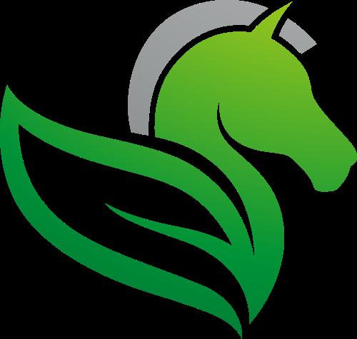 绿叶马形矢量logo图标矢量logo