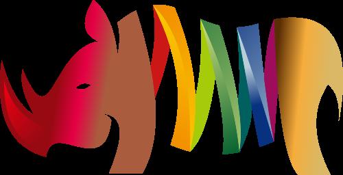 彩色卡通犀牛logo矢量元素矢量logo