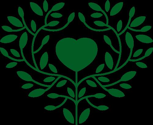 绿色心形logo矢量图标矢量logo