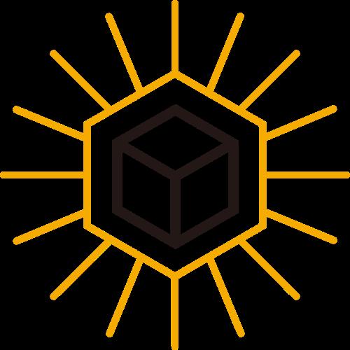 黄色六边形创意想法矢量logo图标矢量logo