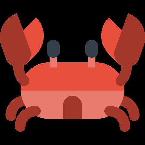 红色卡通螃蟹矢量logo素材
