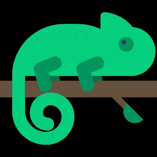 绿色卡通变色龙矢量logo图片矢量logo