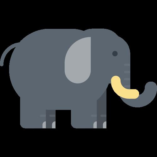 灰色卡通大象矢量logo图标矢量logo