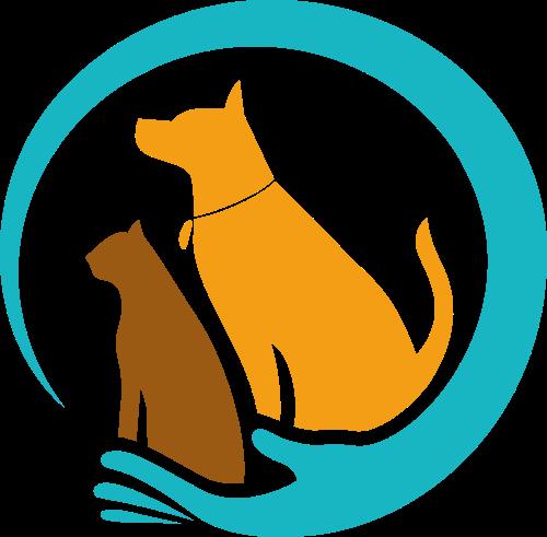 手形环抱狗猫创意矢量logo图标矢量logo