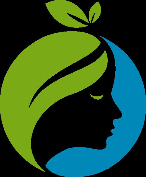 绿叶人脸女性矢量logo素材矢量logo