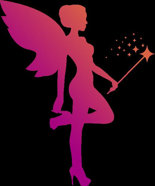 紫色卡通女性logo矢量元素矢量logo
