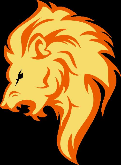 黄色卡通狮子矢量logo图标