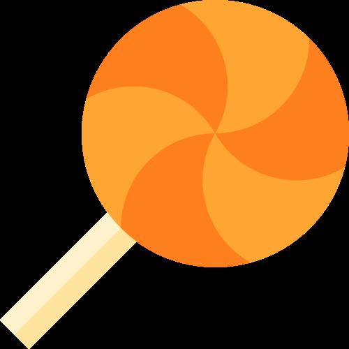 橙色圆形棒棒糖矢量logo