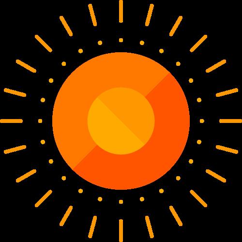橙色太阳矢量logo矢量logo