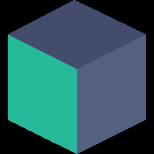 简单3d立方体矢量图标矢量logo
