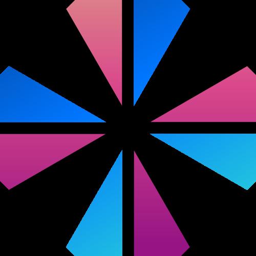 渐变十字架抽象矢量图标矢量logo