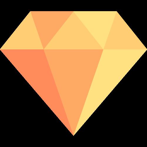 黄色钻石矢量logo图标矢量logo