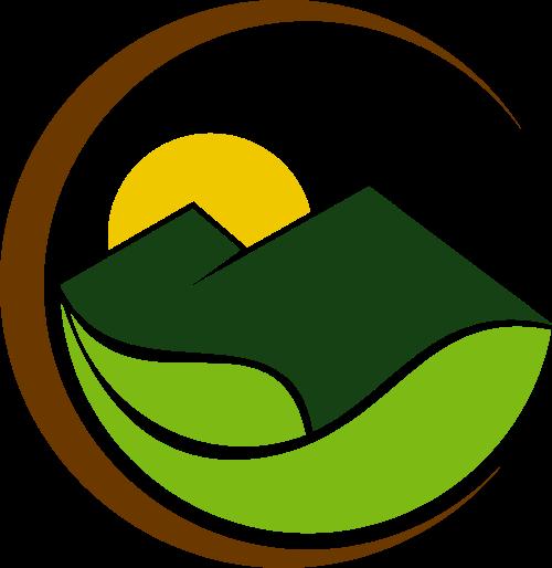 生态绿叶大山LOGO矢量元素矢量logo