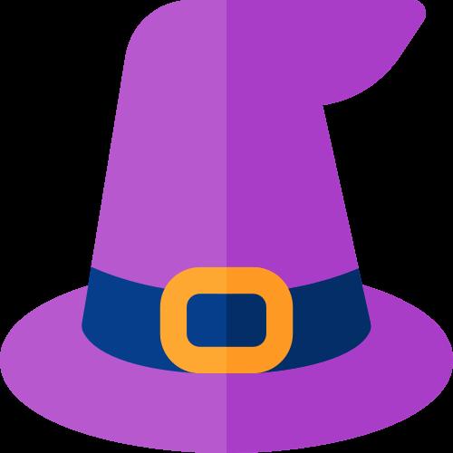 万圣节魔术帽矢量logo图标矢量logo