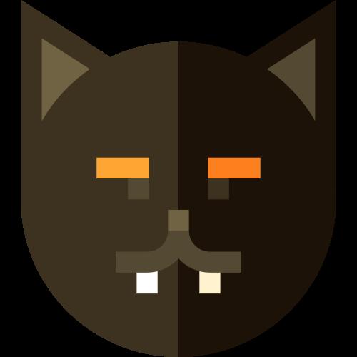 黑色猫搞怪创意万圣节矢量logo图标矢量logo