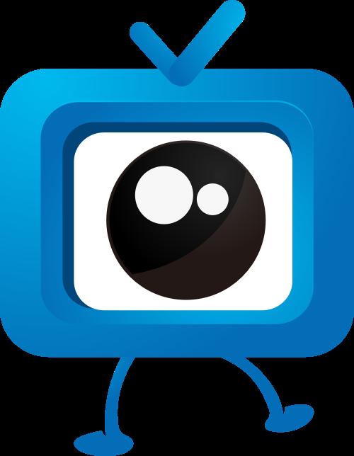 蓝色卡通电视眼睛矢量LOGO图片矢量logo