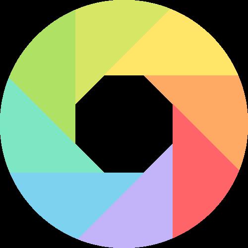 彩色摄像相机镜头相关矢量logo图标矢量logo