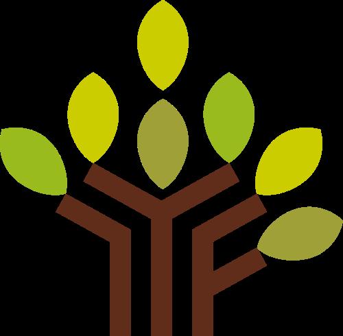 创意绿叶树矢量LOGO素材