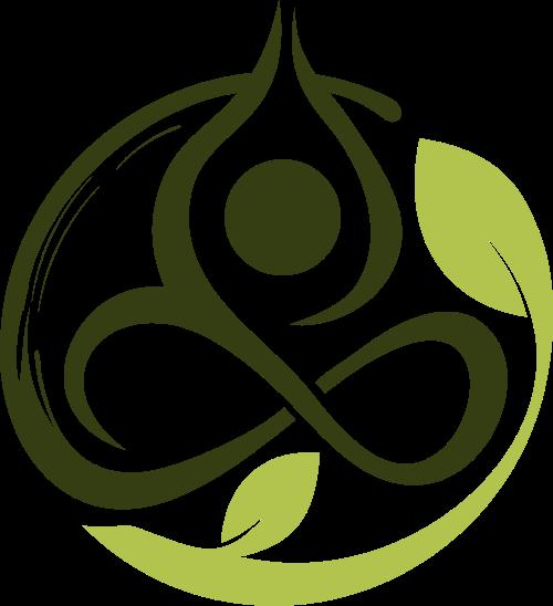 人形绿叶瑜伽矢量图标素材矢量logo