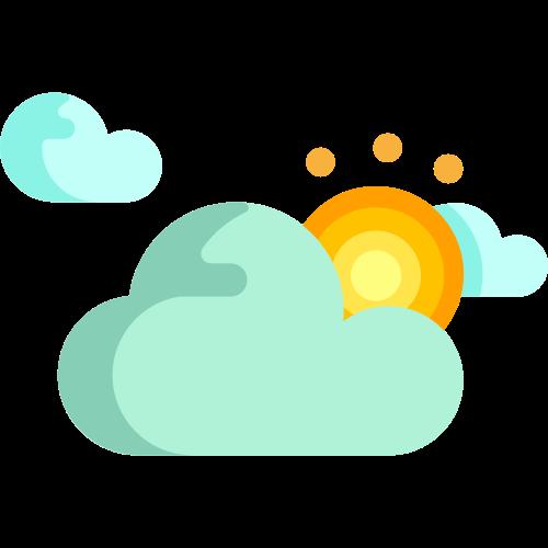 彩色多云转晴矢量logo图标矢量logo