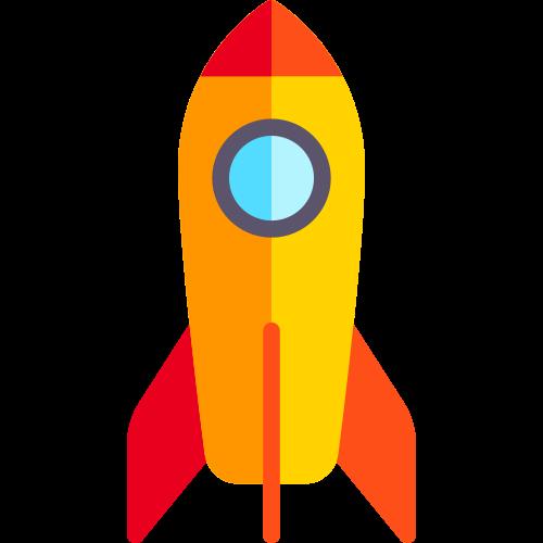 卡通火箭矢量logo图标矢量logo