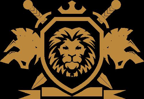 徽章盾形狮子宝剑创意矢量LOGO图标矢量logo