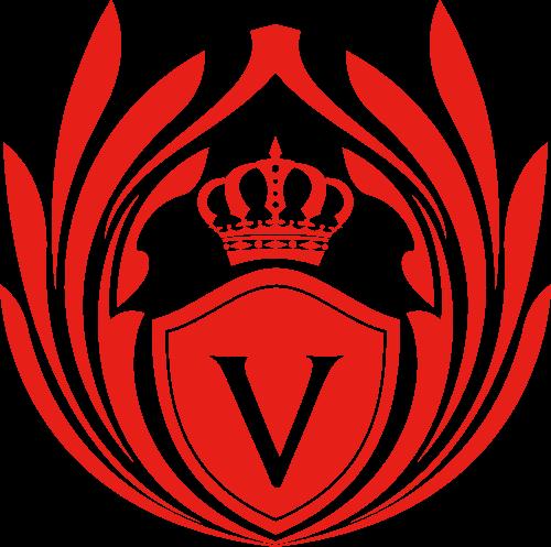 红色皇冠字母V矢量LOGO图标矢量logo