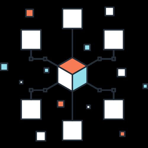 科技智能多个正方体矢量logo图标矢量logo