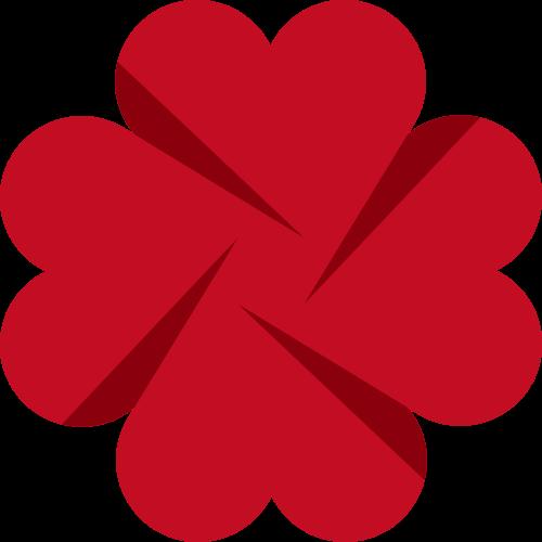 立体爱心创意矢量LOGO图标矢量logo