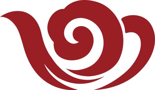 中国风茶壶云彩矢量logo素材图片