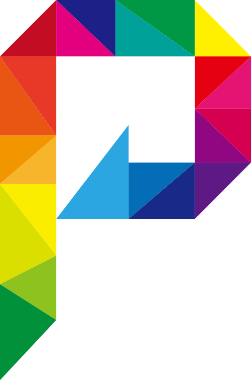彩色字母P矢量图标LOGO矢量logo