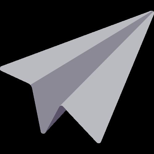 灰色纸飞机矢量logo图标